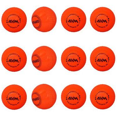 AVM Red Windball-18 Cricket Ball - Size Standard, Dia 6.5 cm - 12 Pcs