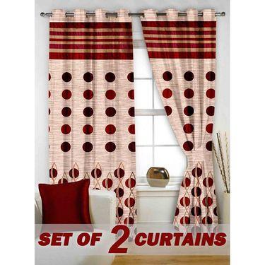 Set of 2 Printed Window curtain-5 feet-WBR_2_4008