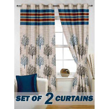 Set of 2 Printed Window curtain-5 feet-WBR_2_4011
