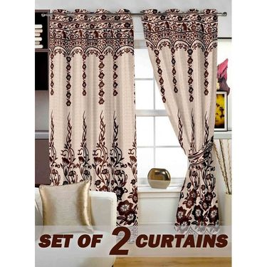 Set of 2 Printed Window curtain-5 feet-WBR_2_4024