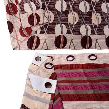 Set of 4 Printed Window curtain-5 feet-WBR_4_4008