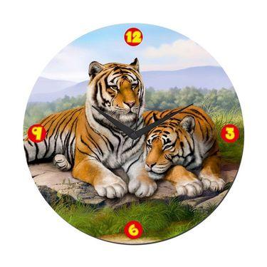 meSleep Lion Wall Clock  With Glass Top-WCGL-01-01