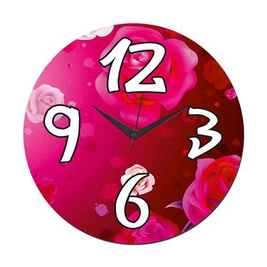 meSleep Rose Wall Clock With Glass Top-WCGL-01-05