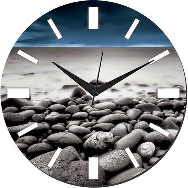 meSleep Stone Wall Clock With Glass Top-WCGL-01-49