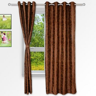 Story @ Home Coffee 2 pc Window curtain-5 feet-WNR3019