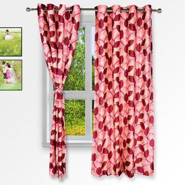 Story @ Home Red 2 pc Window curtain-5 feet-WNR3062