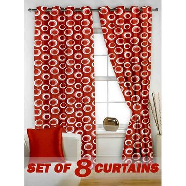 Set of 8 Printed  Window curtain-5 feet-WNR_4_2023