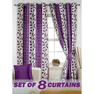 Set of 8 Printed  Window curtain-5 feet-WNR_4_2026