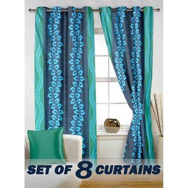 Set of 8 Printed  Window curtain-5 feet-WNR_4_3022