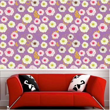 meSleep Floral Water Active Wall Paper 40 x 120 Inches-WPWA-03-47
