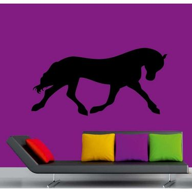 Black Horse Decorative Wall Sticker-WS-08-123