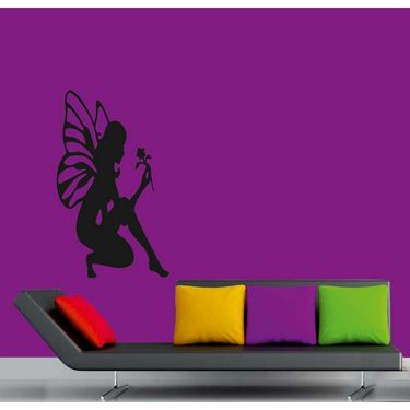 Black Angel Decorative Wall Sticker-WS-08-183