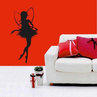 Black Angel Decorative Wall Sticker-WS-08-184