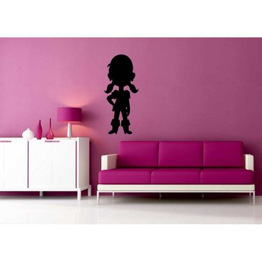 Black Qute Baby Decorative Wall Sticker-WS-08-200