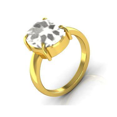 Kiara Jewellery Certified White Topaz 3.0 cts & 3.25 Ratti White Topaz Ring_Whtzry