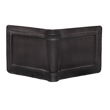Walletsnbags Oil Pull Up Leather Wallet - Black
