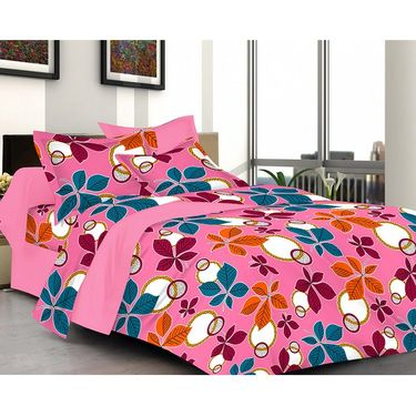 valtellina Set of 2 Double Bed Sheets with 2 Pillow Covers-Y_063 -064