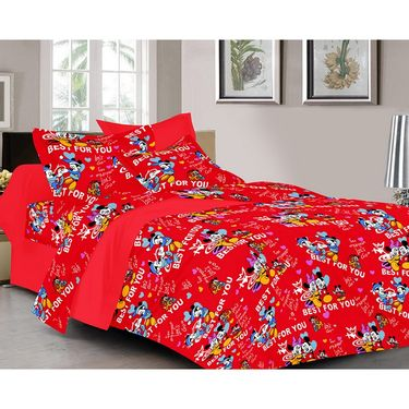 valtellina Set of 2 Double Bed Sheets with 2 Pillow Covers-Y_094-097