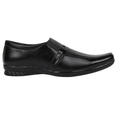 Yellow Tree Synthetic Leather Black Formal Shoes -osy07