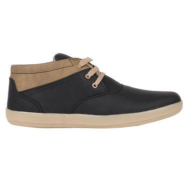 Yellow Tree Synthetic Leather Black Casual Shoes -osy01