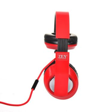 Zen Groove Flex Foldable Headphone with Mic - Red