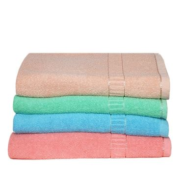 Banarsi Das Set of 4 Pure Cotton Bath Towels-bdt002