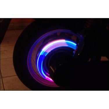 Branded Flashing Flash Wheel Lights for Bikes - Blue