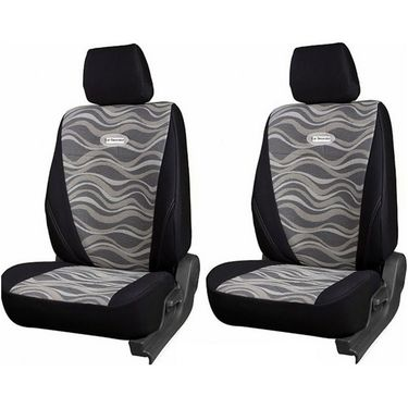 Branded Printed Car Seat Cover for Mahindra Verito - Black