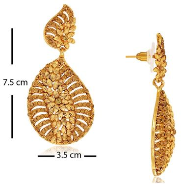 Spargz Combo of 3 Pair Designer Earring Studded With AD Stone_Cb316