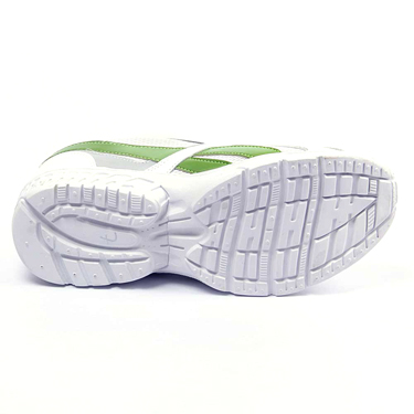 Foot n Style Synthetic  leather Sports Shoes  FS420 - White & Light Green