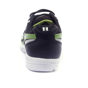 Foot n Style Synthetic  leather Sports Shoes  FS424 - Black & Green