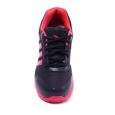 Foot n Style Synthetic  leather Sports Shoes  FS429 - Black & Red
