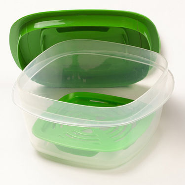 Combo of Cutting Edge 69 Pcs Complete kitchen Set Dry Storage Containers + Refrigerator Storage Containers + Dinner Set - Light Green