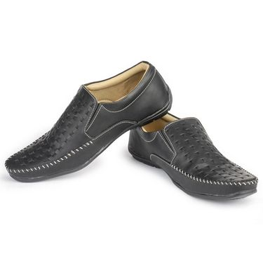 Foot n Style Leather Grey Casual Shoes -fs3019