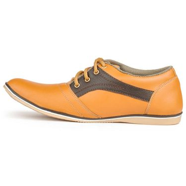 Foot n Style Artificial Leather Tan Casual Shoes -fs3024
