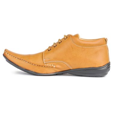 Foot n Style Nubuck Leather Tan Casual Shoes -fs3030
