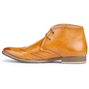 Foot n Style Cordovan Leather Tan Casual Shoes -fs3041