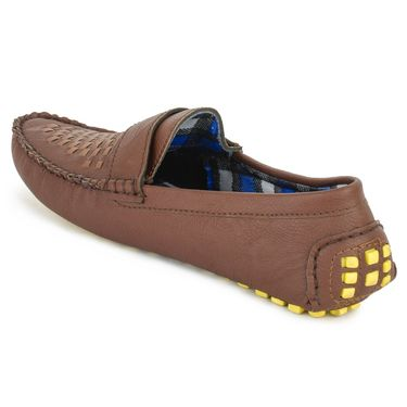 Foot n Style Brown Loafers -Fs3075