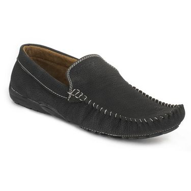 Foot n Style Black Loafers -Fs3086