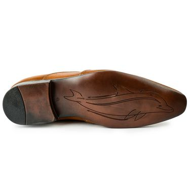 Foot n Style Leather Tan Formal Shoes -fs3097