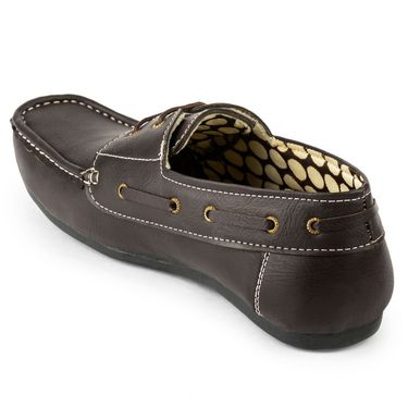 Foot n Style Faux Leather Brown Loafers Shoes -fs3110