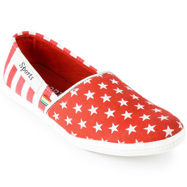 Foot n Style Canvas Red   Casual Shoes -fs3133