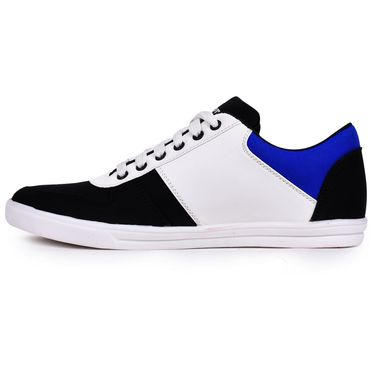 Foot n Style Black & White Sneakers Shoes -Fs3138