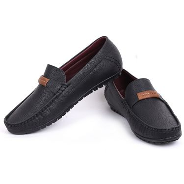 Foot n Style Black Loafers Shoes -Fs3156