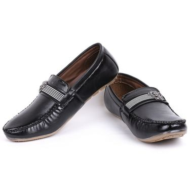 Foot n Style Black Loafers Shoes -Fs3171