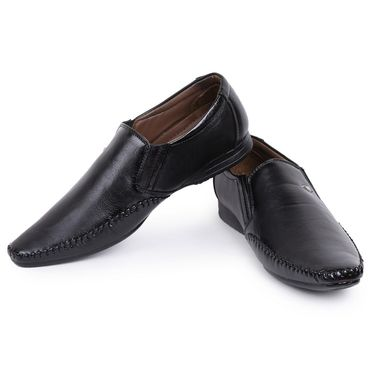 Foot n Style Black Formal Shoes -Fs3179