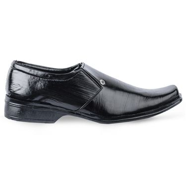 Foot n Style Leather Formal Shoes FS 389 -Black