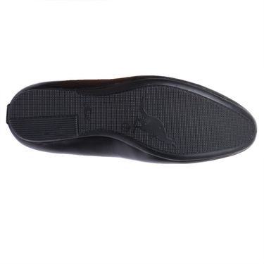 Foot n Style Leather Black Loafers Shoes -Fs5006