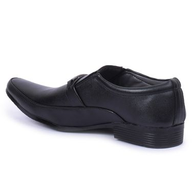 Foot n Style Faux Leather Black Formal Shoes -Fs7000