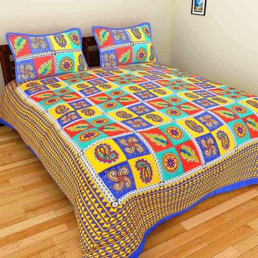 Set of 10 Double BedSheets With 20 Pillow Covers-grj-db-10-1